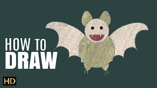 How To Draw BAT | Drawing Lesson For Children | Shemaroo Kids
