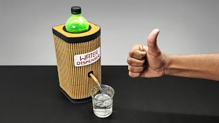 DIY Simple Water Dispenser Machine From Cardboard DIY At Home