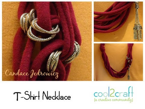 How to Make a T Shirt Necklace by Candace Jedrowicz