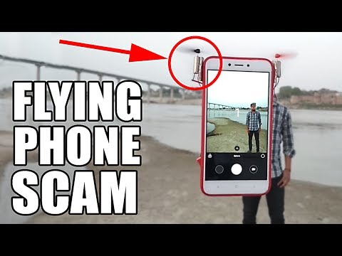 FLYING PHONE SCAM EXPOSED so I built a REAL one