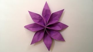 How to make: Origami Paper Flower (2 unit)