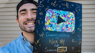 I Made My Own YouTube Award!! 10,000 SUBSCRIBERS!