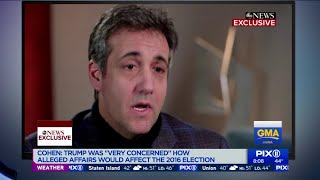 Michael Cohen speaks to ABC News after being sentenced to prison