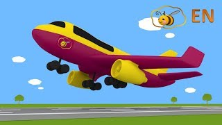 Airplane for kids toddlers babies. Educational cartoon. Surprise egg toy