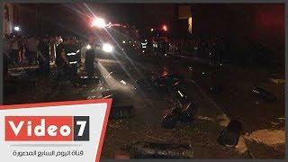 الدفع بـ 9 سيارات إطفاء للسيطرة على حريق مستودع أنابيب أسيوط