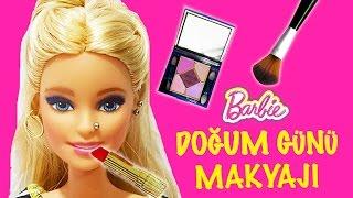 Barbie Oyuncak Bebeğime Doğum Günü Makyajı Yaptım | Nasıl Yapılır | Oyuncak Butiğim
