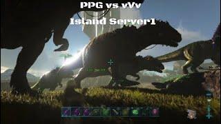 Ark Official PvP Ps4 PPG vs vVv Wiping Island Server 1 (Revenge of S2N)
