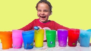 Learn Colors with Magical Ice Surprise Drinks with SURPRISE TOYS for kids