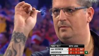 🎯 NEW WORLD RECORD 42 x 180s - Michael van Gerwen vs. Gary Anderson - 2017 PDC Final