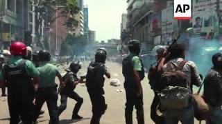 Police clash with hardline Islamic activists calling for anti-blasphemy law