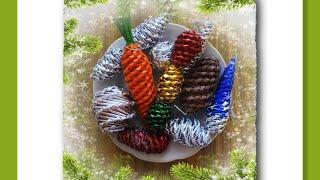 Ёлочные игрушки из бумажных трубочек - мастер-класс / Toys on the Christmas tree from paper tubes