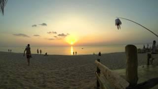 Sunset timelapse @ Lanta Paradise Beach Resort, Koh Lanta, Thailand. Full HD (1080p)