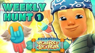 🤘 Subway Surfers Weekly Hunt - Collecting Skater Stickers in Venice Beach (Week 1)