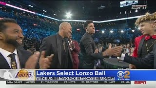 Lakers Select Lonzo Ball With No. 2 Overall Pick In NBA Draft