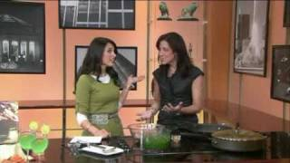 Reyna Simnegar in WGN Channel 9 Chicago, Lunchbreak - Persian Mega Meatballs