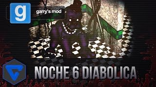 NOCHE 6 DIABOLICA EN LA PIZZERIA! - PURPLE FREDDY ESTA LOCO!  FIVE NIGHTS AT FREDDY'S GMOD