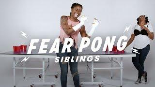 Siblings Play Fear Pong (Vanessa vs. Natalie)   Fear Pong   Cut