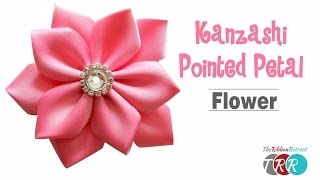 How to Make a Kanzashi Pointed Petal Flower - TheRibbonRetreat.com