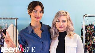 Lily Aldridge Teaches Amanda Steele How to Pose Like a Supermodel | Fashion Week 2015