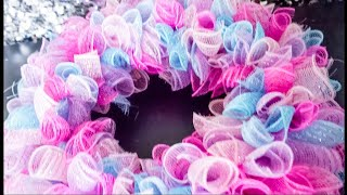 DIY: Spring Deco Mesh Wreath || Dollar Tree || Quick and Easy Tutorial