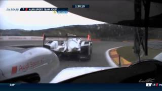 Epic battle Audi vs Porsche during WEC 2015 Spa 6H
