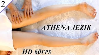 Leg Massage Relaxation Techniques - ASMR Athena Jezik Full Body Series 2 of 7 HD 60P