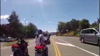 angry ducati rider abusing young girl