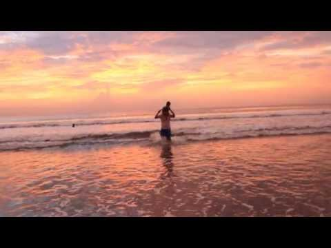 Sunset in Kute Bali Beach with Kyle Shoulder Ride.