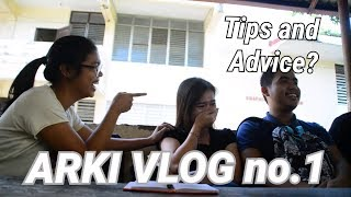 ARKI VLOG no 1: Tips and Advice for freshmen arki