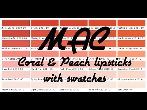 MAC - Peach & Coral Lipstick Collection with Swatches