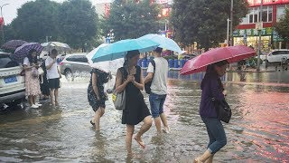Heavy rainstorms drench Chinese capital, Beijing