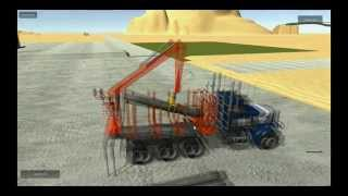 Unity3D Realistic Vehicle Physics   Peterbilt Logging Crane
