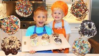 Kid Size Cooking: Caramel Popcorn DONUTS!
