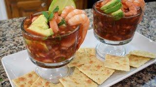 Coctail de Camarones, receta familiar, super facil y Deliciosa, Mexican recipe,