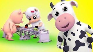 London Bridge Is Falling Down | Nursery Rhymes Farmees | Kids Songs | Baby Rhymes