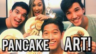 Pancake Art Challenge Ft. Alex Wassabi, Laurdiy, & Lazyron!!