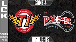SKT vs KT Highlights Game 4 | LCK Playoffs Round 2 Spring 2018 | SK Telecom T1 vs KT Rolster G4