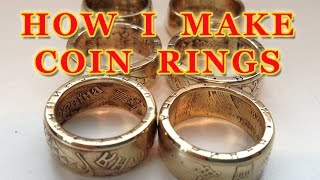 How to make coin rings (short version) - Double Sided Coin Ring - How I do it