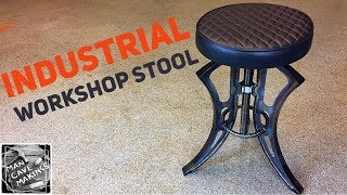 How to make an adjustable height workshop stool