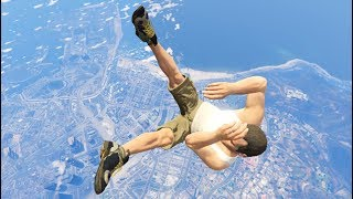 GTA 5 CRAZY Jumps/Falls Compilation #8 (Grand Theft Auto V Fails Funny Moments)