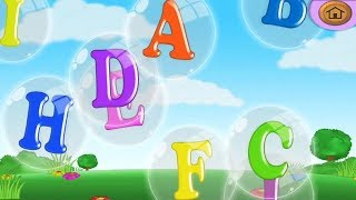 Kids Learning alphabet A to Z with ABC Song Educational game for kids