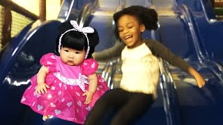 ABC Song | Wheels on The Bus | 5 Little Monkeys Kids Songs & Nursery Rhymes at Indoor Playground