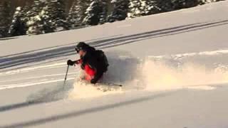 Powder Skiing in Bear Trap Canyon, Wasatch, Utah 2/22/2006