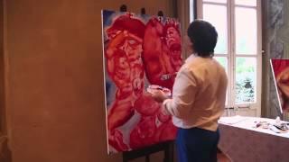 Alexander Kanevsky Live Painting Movie Villa Clerici 14062015