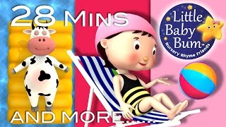 Swimming Song | Plus Lots More Nursery Rhymes | 28 Mins Compilation from LittleBabyBum!