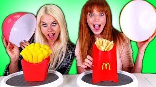 Squishy Food VS Real Food Challenge!!!
