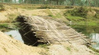 Bamboo Bridge near Manas