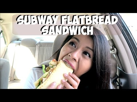 TASTING THE SUBWAY FLATBREAD SANDWICH WITH BRACES