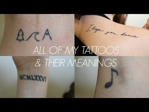 MY TATTOOS + THEIR MEANINGS