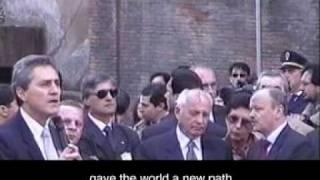 Gorbachev Striking Hasson's Millennia Bell in the Campidoglio, Rome, 2000